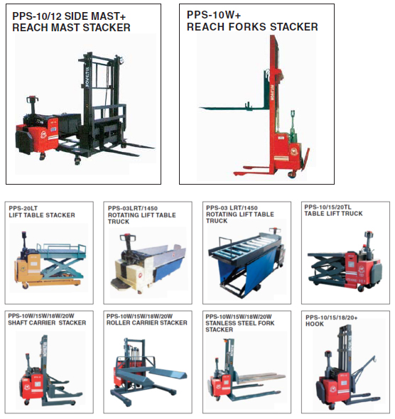 Special Specifications Powered Pallet Stacker